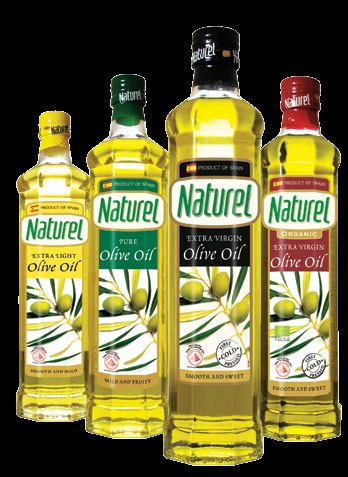 <b>OLIVE OILS</b> Naturel's range of olive oils from Spain is the number one bestseller* in Singapore and come in many variants and tastes to suit the individual's palate. Choose between its classic and organic Extra Virgin Olive Oils, Pure Olive Oil and Extra Light Olive Oil.