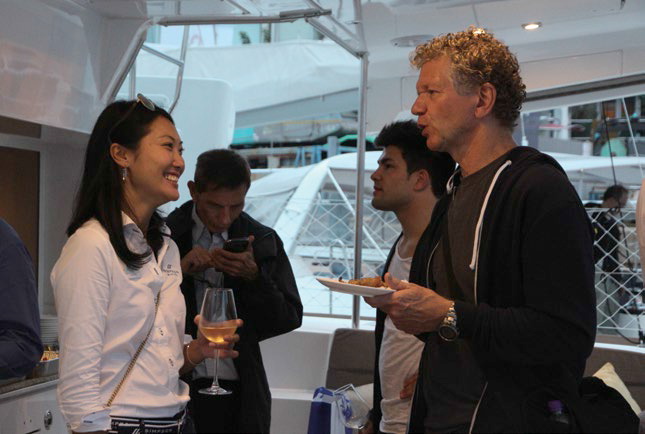 5. Violette Fung mingling with guests.