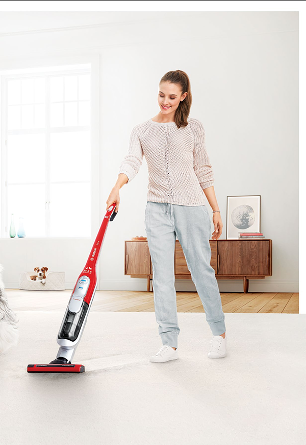 <b>TAKE CLEANING FROM CHORE TO PLEASURE</b> with one of Bosch's super efficient and  easy-to-use vacuum cleaners.