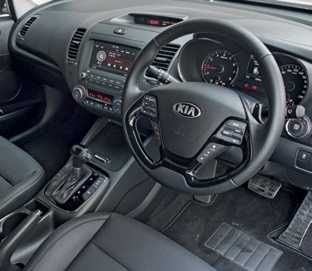Cerato's cockpit boasts a sportier ambience with its faux carbon fibre trimmings, while the Elantra's feels classier thanks to its higherquality plastics.