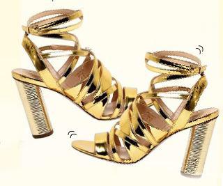 Kurt Geiger metallic strappy heels, $179