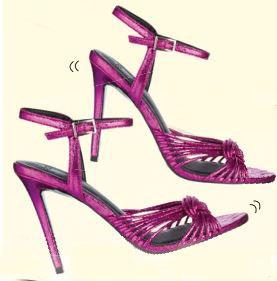 ASOS metallic suede heels from Asos.com, $87