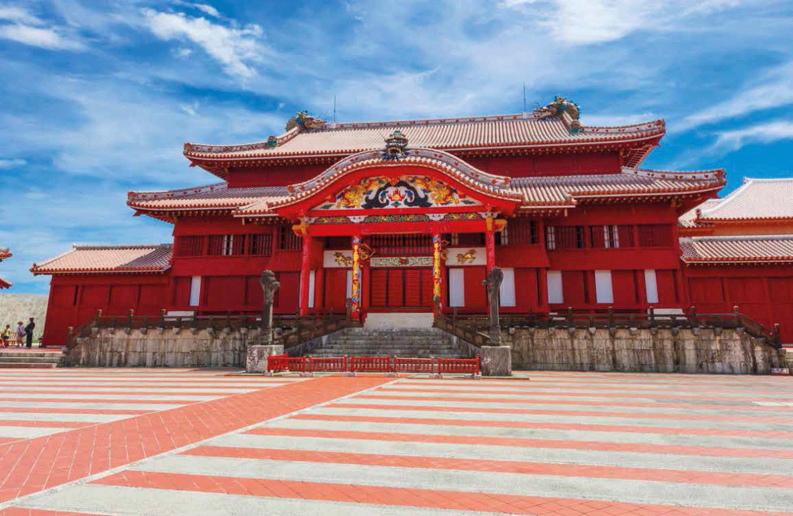 A symbol of Okinawa's storied past, the lavish seiden (main hall) at Shuri Castle bears architectural influences from the Ryukyu Kingdom and other parts of Japan, as well as China.