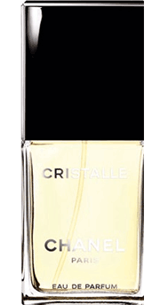 The green notes in Chanel's Cristalle EDP remind her of a garden.