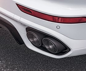 The optional sport exhaust system enhances the SUV's performance and soundtrack.