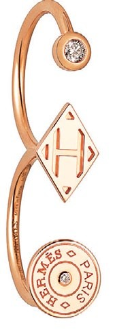 Rose gold and diamond Gambade double ring, $3,800