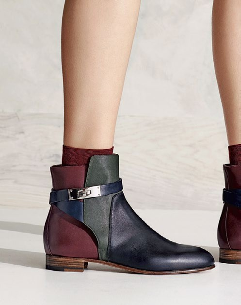Calfskin ankle boot with Kelly clasp, $1,950