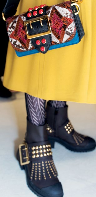 It's all about the details on the Patchwork bag and boots