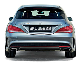 The CLA Shooting Brake's curvy posterior makes the CLA notchback's rear end seem square.