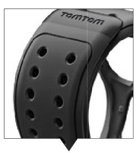The ridged strap with snap-on