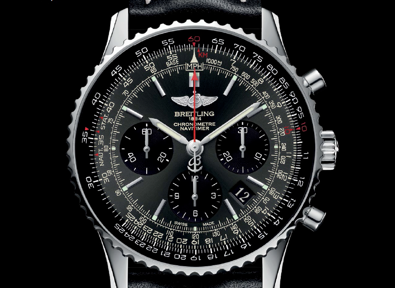 The Navitimer 01 Limited Edition uses Breitling's first in-house movement, visible through the sapphire crystal caseback.