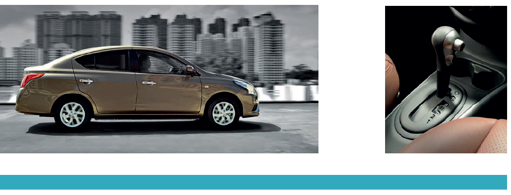 Almera's automatic only has four ratios, but operates as quietly as the Accent's gearbox.