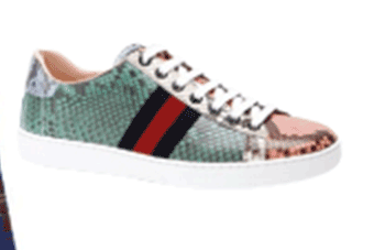 Python skin sneakers, Gucci