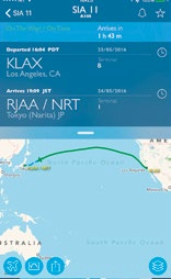 Just about every conceivable  information you need to track any commercial flight in real-time, at your fingertips.