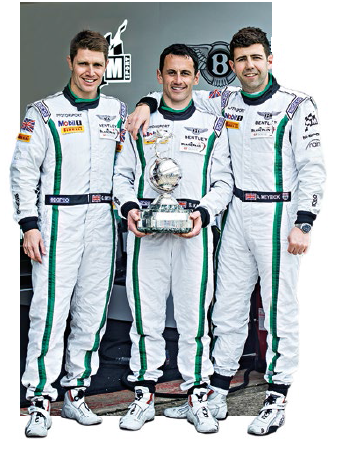 The British boys who drove Bentley's racecar #7, and the English roses that welcomed VIPs to the hospitality suite.
