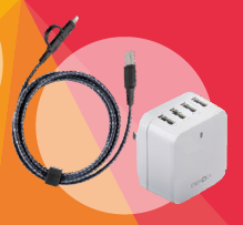 Gift 8 NYLO TOU GH 2 in 1 cable (microUSB and Lightning,1.5m) + Travelite 6.8 (UK) worth $92.80
