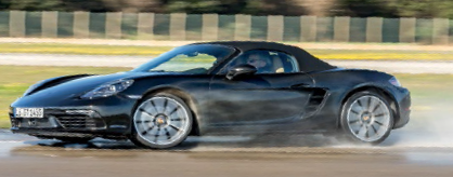 Our writer caught the drift of Porsche's presentation, but our test-drive proper of the 718 Boxster would be later.