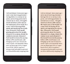 The color temperature on Google Play Books will shift according to the time of the day.