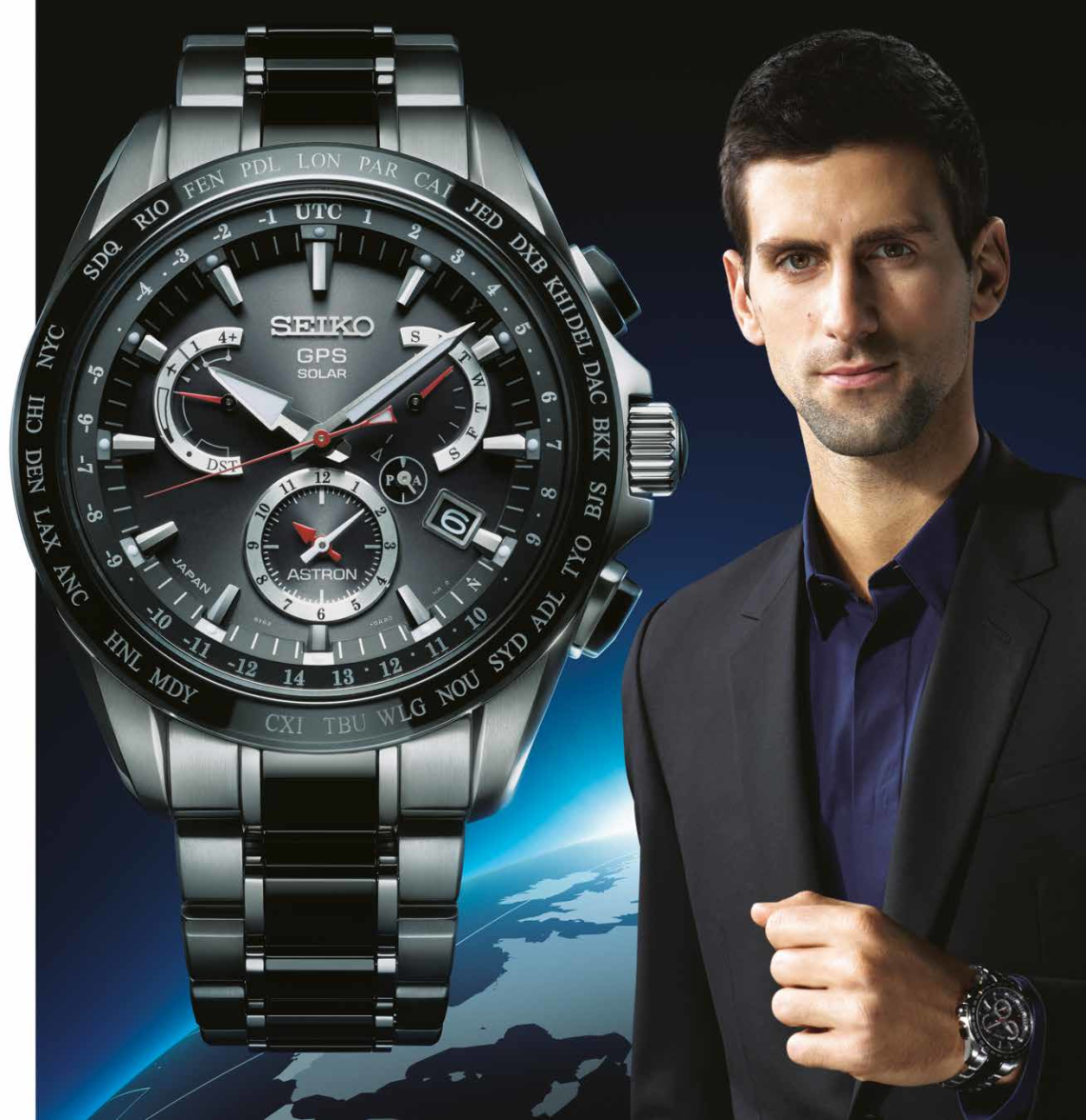 """Seiko is proud to be the watch partner of the world's leading tennis player, Novak Djokovic. Like Seiko, Novak is dedicated to perfection. And like Novak, Seiko is determined to be """"one step ahead of the rest""""."""