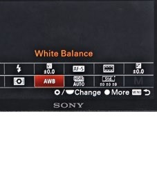There's a quick menu for easy access to the main settings.
