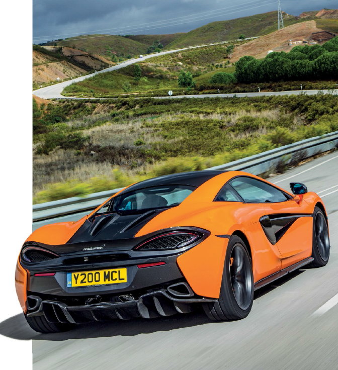 Precise, obedient and performanceoriented, the 570S is comparable to the more potent 650S in driver's enjoyment/ involvement.