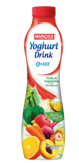 MARIGOLD 0% Fat Yoghurt Drinks are priced at $1.20 for 200g and $2.80 for 700g.