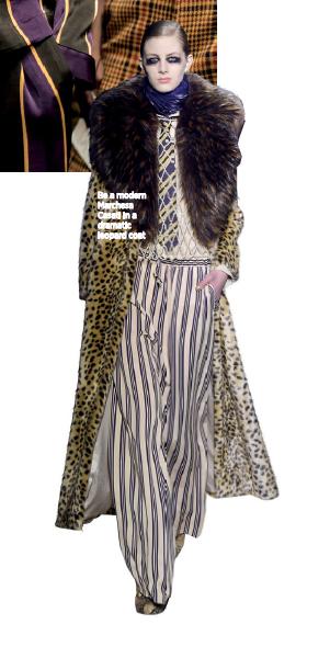 Be a modern Marchesa Casati in a dramatic leopard coat