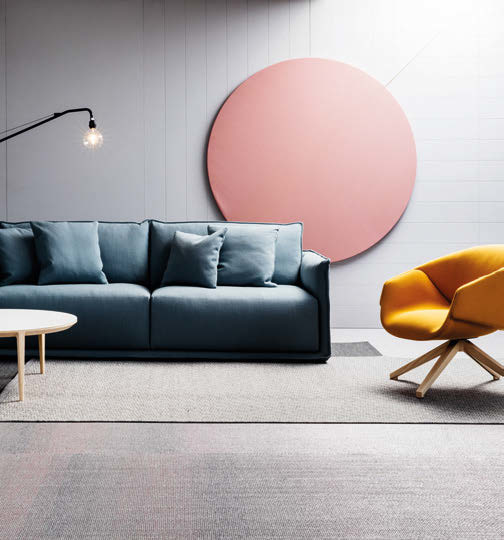 The SP01 range includes Max, a plump Italian sofa with generous proportions and soft, curved contours.