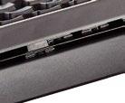 The BlackWidow X Chroma has an exposed military-grade metal plate design.