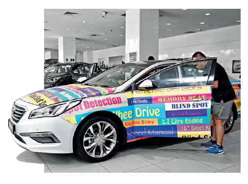 The Hyundai Sonata challenge was a rather colourful one!