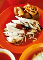 What we ate: Chicken rice with tofu Cost: $4.20 Where: Seletar Seafood Centre, #01-135, Blk 146 Potong Pasir Ave 1