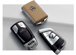 Clockwise from top the XC90's leather-covered device is the classiest, the buttons on the X5's key have the nicest tactility, while the Q7's fob is the most solid.
