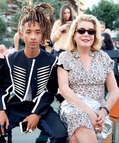 Jaden Smith and Catherine Deneuve