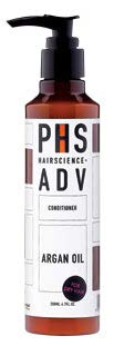 PHS Hairscience Adv Argan Oil Conditioner, $39 (200 ml), is enriched with argan oil, honey and royal jelly extract to nourish damaged hair and lock moisture in.