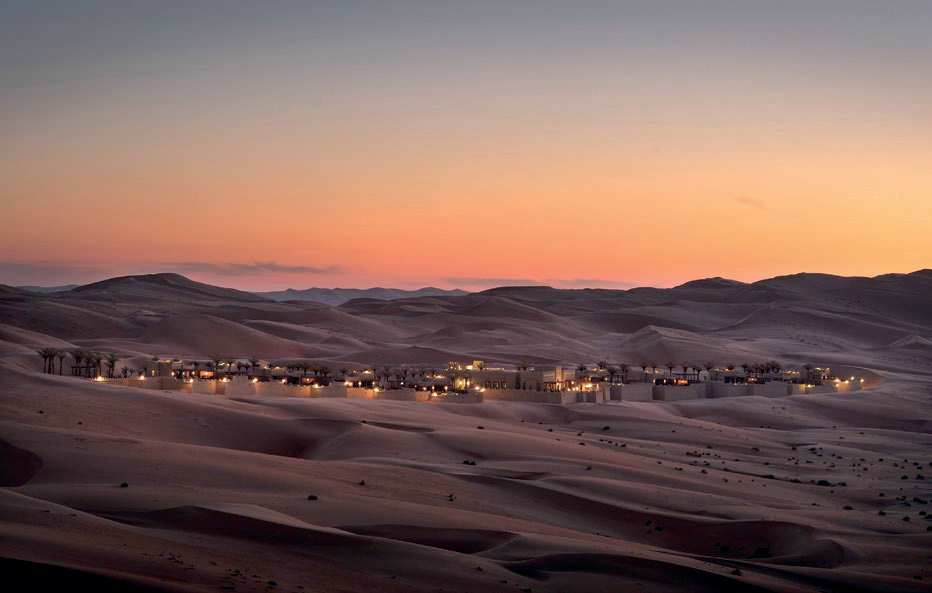 02 Taming nature, our destination, the Qasr Al Sarab resort, offers five-star luxury in the middle of nowhere.