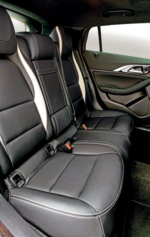 Backseats' space and comfort could be better, but there are rear air-con vents and a well-shaped 430-litre cargo hold.