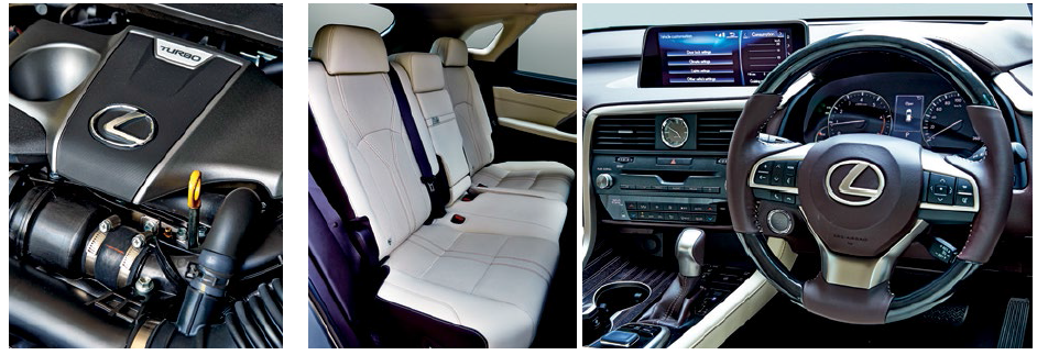 Discovery Sport's interior (top) is hardy and practical, while the RX's interior is softer and more luxurious.