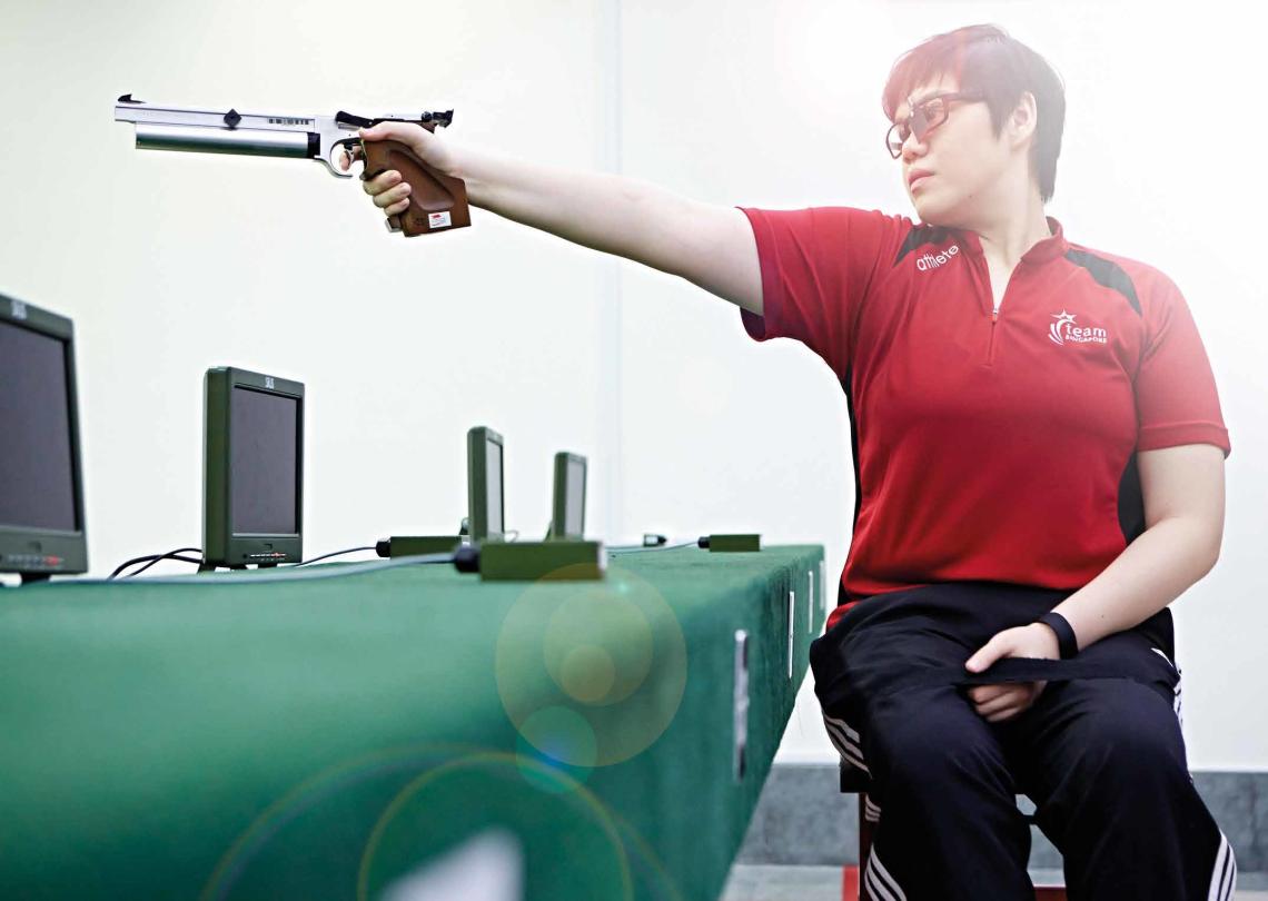Alvina Neo Air Pistol Shooting