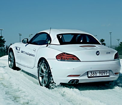 Even shod with grippy winter tyres, traction is scarce when driving on snow and ice.