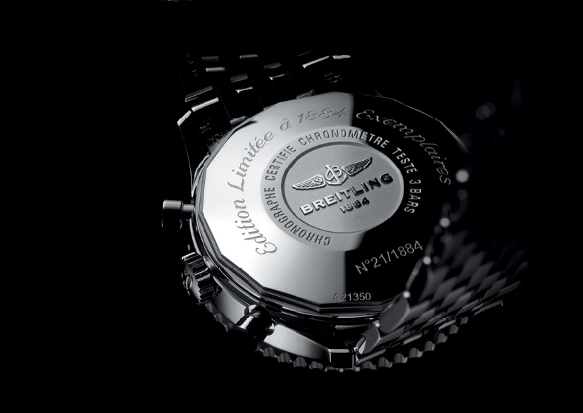 The Navitimer 1884 Limited Edition is 46mm, 3mm bigger than the Navitimer 01. The watch is named after the year the brand was founded and is limited to 1,884 pieces.