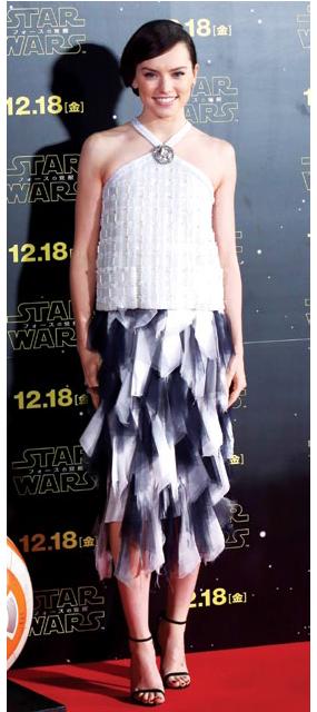 Daisy Ridley in Chanel.
