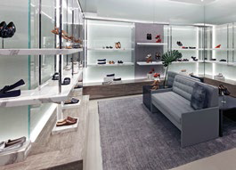 The first Michael Kors shoe salon in Singapore.