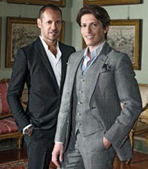 Salvatore Ferragamo's creative director Massimiliano Giornetti (left) with Aquazzura's founding designer Edgardo Osorio. The latter is known for his super-comfy and sexy strappy sandals.
