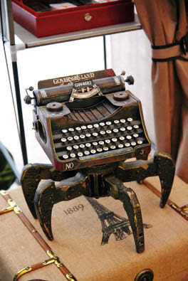 The Walking Typewriter was put together by Daniel himself, who has an engineering background.