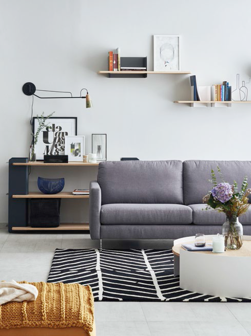 Fabbrica Seasons sofa and other minimalist-style home furniture.