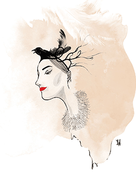 Ng's signature style harks back to the old-world glamour of fashion illustration.