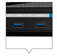 Two USB 3.0 ports allow the router to be connected to printer and external storage devices for print and file sharing.