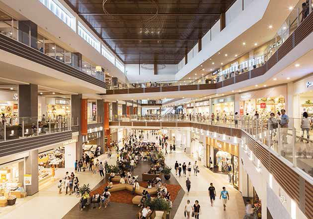 The massive Aeon Mall Okinawa Rycom has over 220 stores and a 2,200-seater food court.