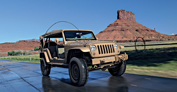 The Willys Jeep-inspired Staff Car wouldn't look out of place on a WW2 battlefield.