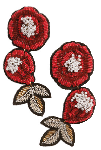 Polyester beaded earrings, $59.90, from H&M.